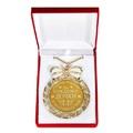 """Медаль в бархатной коробке """"За рождение дочки, счастья, радости и благополучия"""""""
